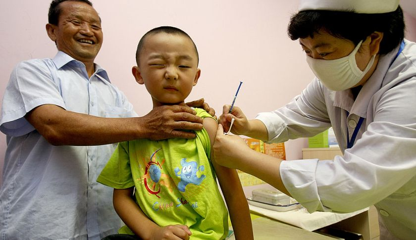 China vaccines against measles
